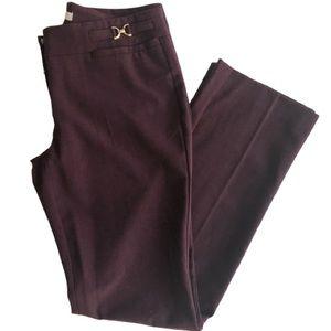 New York & Co. burgundy stretch work/dress pants